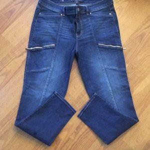 WHBM skinny ankle jeans.